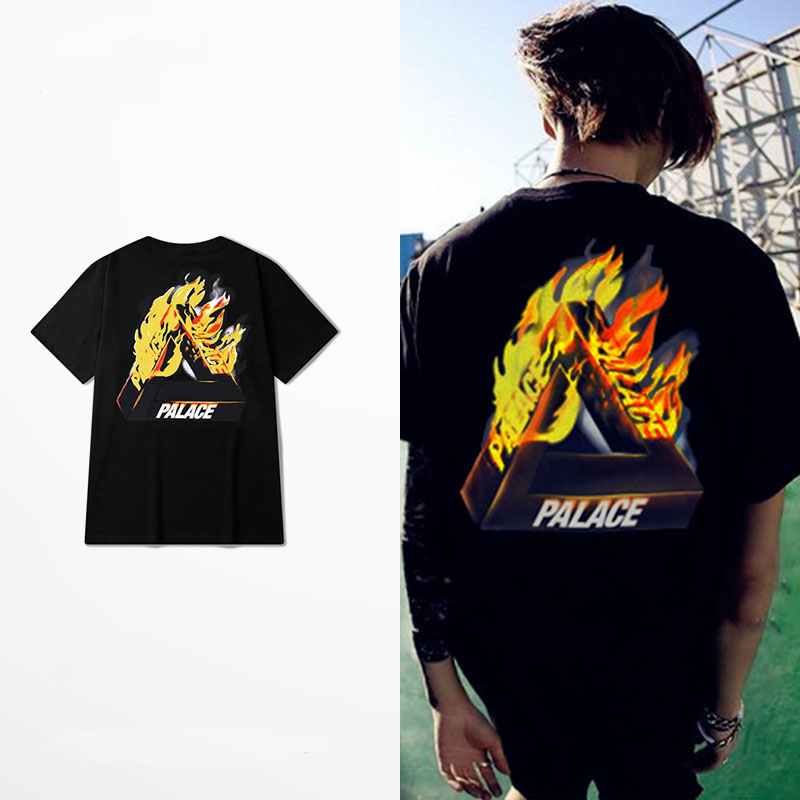 New Arrival palace Print T-Shirt Men Cool And Hip Hop Style Cotton Slim Fit Short Sleeve TShirts Men Luxury in Plus Size 4XL