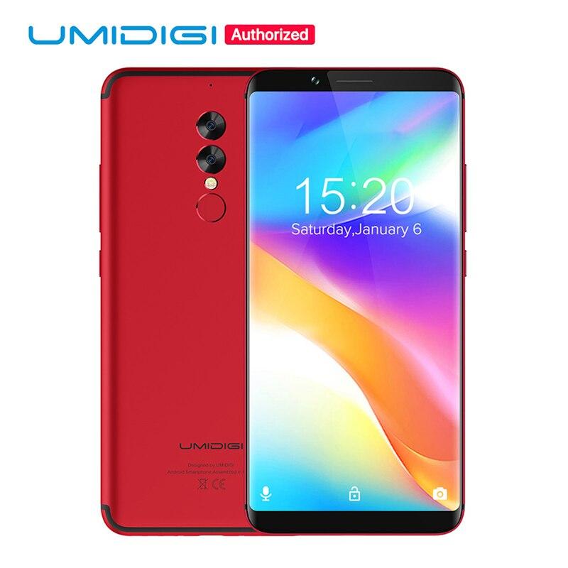 UMIDIGI S2 Lite 18:9 Full Tela do Smartphone 5100 mAh 4 GB + 32 GB 16MP + 5MP Câmera Dupla Face ID Telefone Android 7.0 4G LTE Móvel