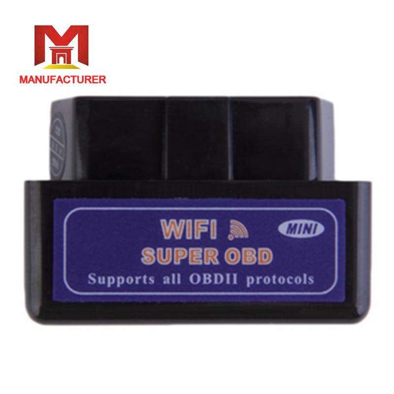 Hot Sale New Black Mini WiFi ELM327 OBD2 Car Auto Diagnostic Scan Tool Mini ELM 327