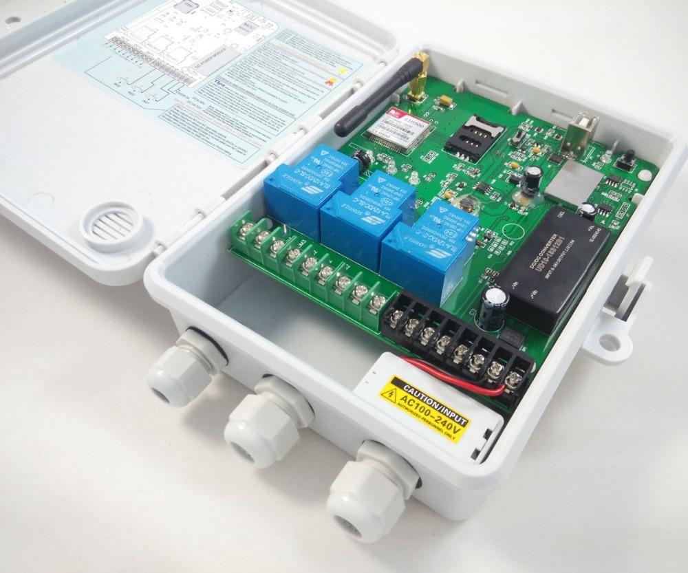 GSM-TOG Three big relay output GSM remote relay switch  / Power input AC100-240V gsm tog gsm alarm and remote relay switch control box three big power relay output power input dc18 72v