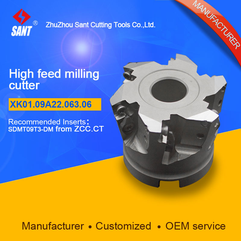 High feed milling cutter Indexable milling cutter insert SDMT09T3-DM disc XK01.09A22.063.06/XMR01-063-A22-SD09-06 Hot selling