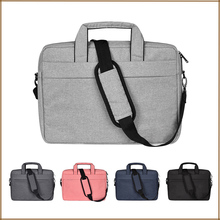 Laptop Shoulder Bag Waterproof Multi-functional Fabric Sleeve for MacBook Pro 15, Acer Asus Dell Lenovo HP Notebook