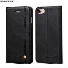 Роскошный кожаный бумажник телефон чехол для iPhone 6 S 7 7 плюс флип чехол Слот для карты Стенд Магнитная Fundas для iPhone 5 5S se