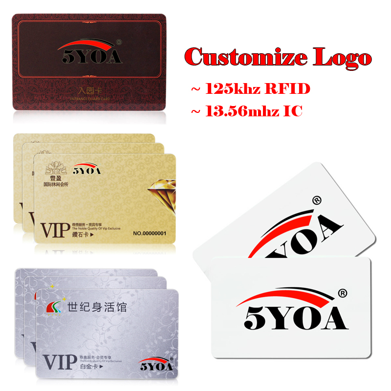 Access Control Security & Protection Expressive Customize Logo Design Printing Arbitrary Pattern Vip Print Rfid Id 125khz Em4100 Card 13.56mhz Ic Card Mf S50 Proximity Smart