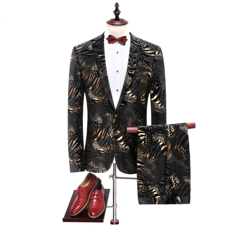 Jacket+Pants 2019 New Arrival High Quality Flower Color Single Button Suits Men,Casual Men's Dress Suits,Business Suits Blazers