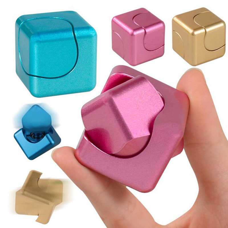 3.5cm Mini Magic Cube Spinner EDC Anti Stress Hand Finger Spin Fidget Cubes Square Puzzle Toys for Kids Adults