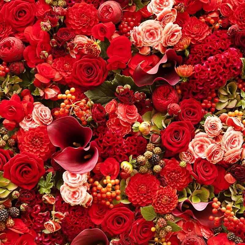 Цветы красные фон