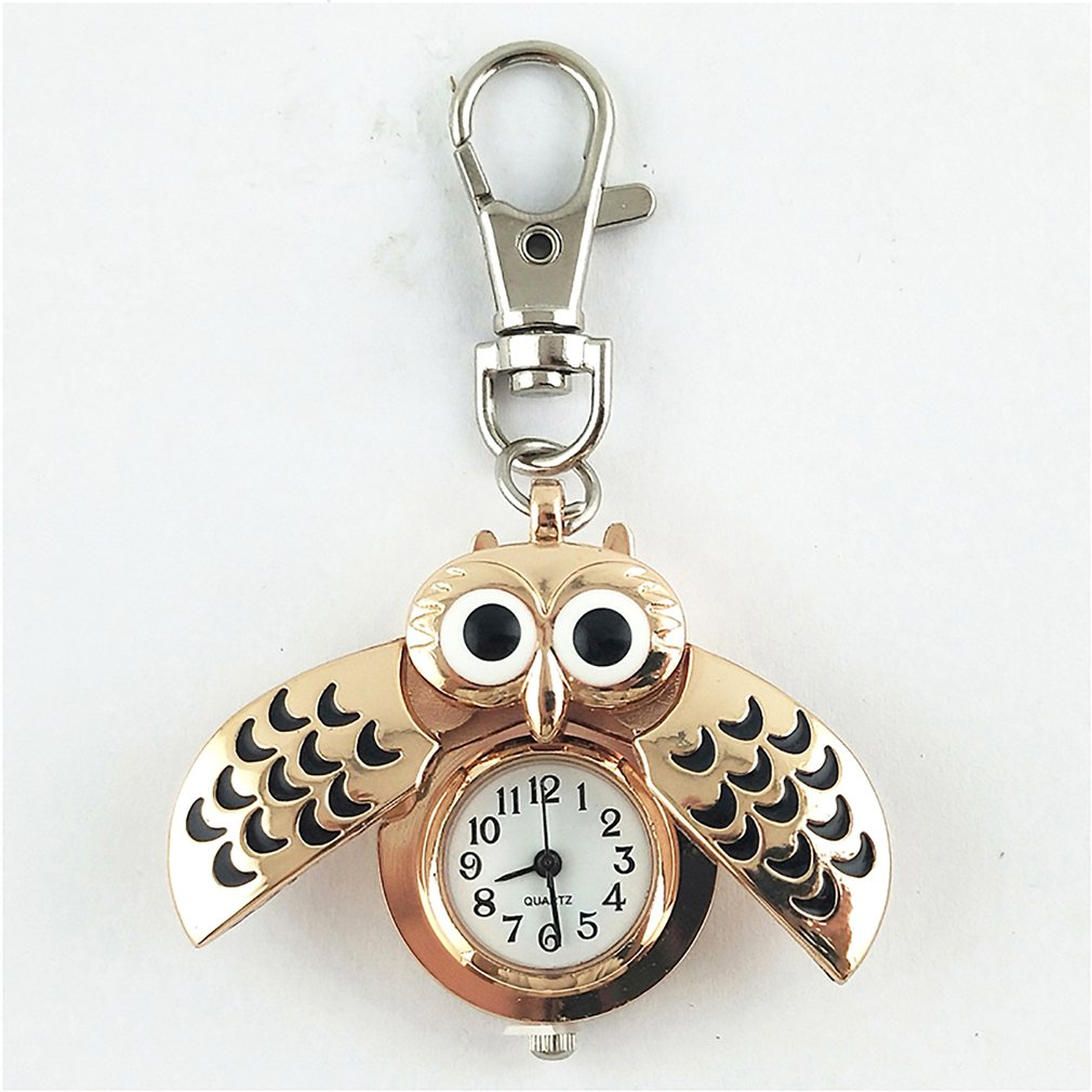 Owl Pocket Watch Vintage Bronze Quartz Pocket Watch Analog Pendant Necklace Chain For Men Women Boy Girl Kids Gift
