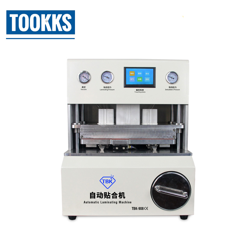 TBK 908 Automatic Bubble Removal Mobile Phone Curved Screen OCA LCD Vacuum Laminating Machine LCD Repair Equipment machine