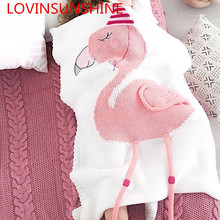 Nordic Style 70x100cm Knitted Unicorn Blanket For Baby Unicorn Knitting Blanket For Kids baby Shower Gifts Unicorn Throw Blanket(China)