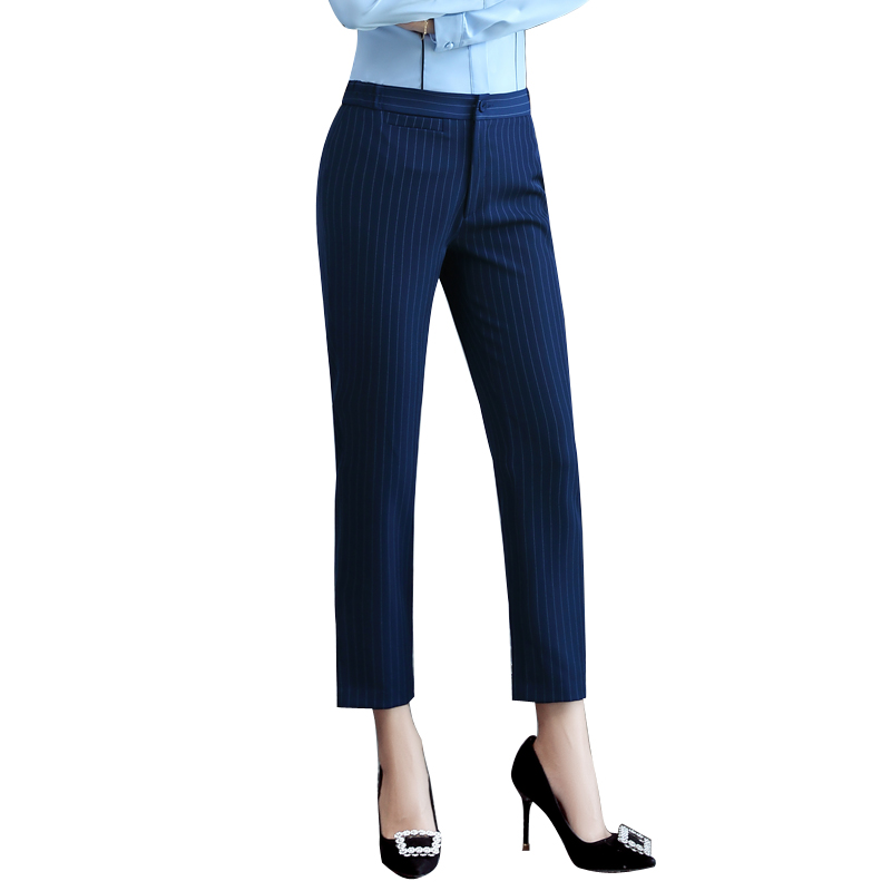 Ankle Length Pants Professional Business Formal Pants Women Trousers Girls Slim Female Work Wear ...