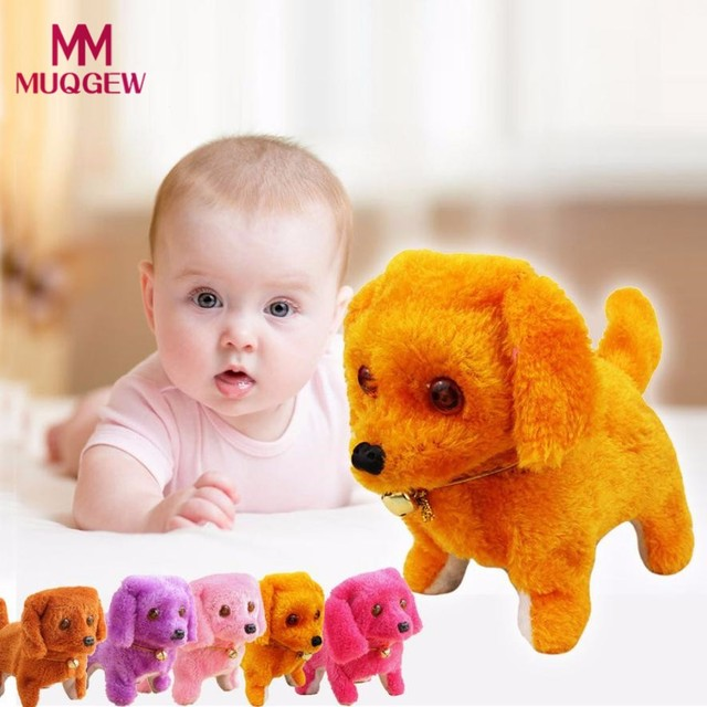 MUQGEW Baby Kids Toy New Robotic Cute Electronic Walking Pet Dog Toy Puppy Kids Toy With Music Light Best Gift