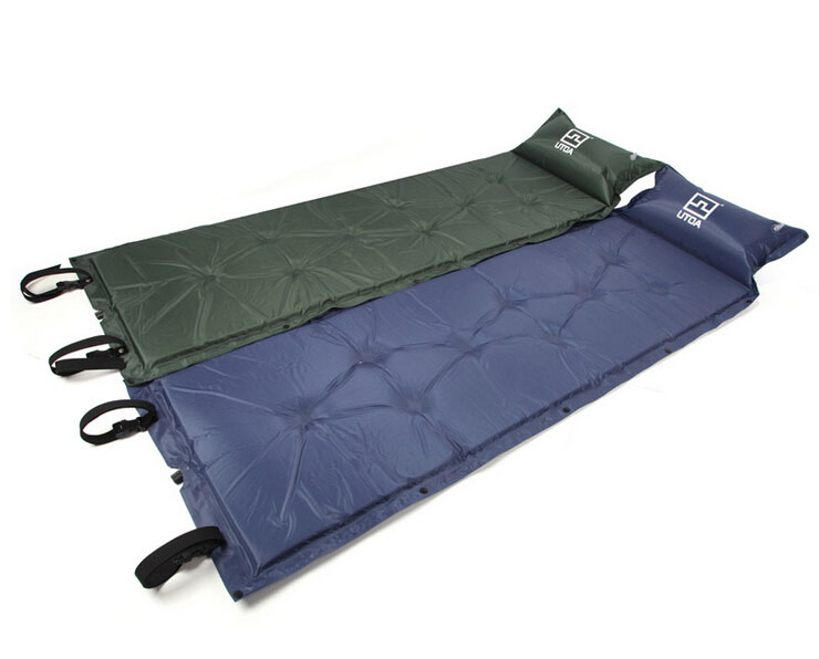ФОТО One Piece Self-Inflating Camp Mat Sleeping Pad with Straps and Storage Bag