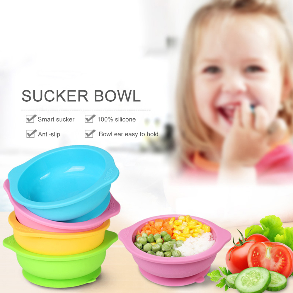 Training Children Dishes Snack Tableware Toddler Container Baby Feeding Bowl