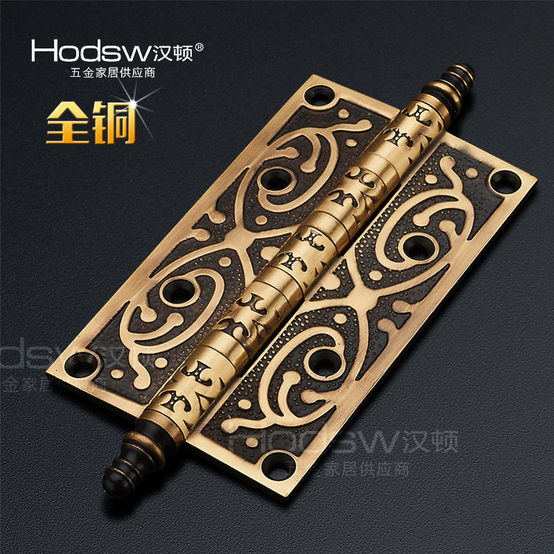 Фото Hondon copper copper alloy hinge European fancy fancy 5 inch copper brass hinge crown head