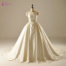 Waulizane Court Train Wedding Dresses Sleeveless Ball Gown