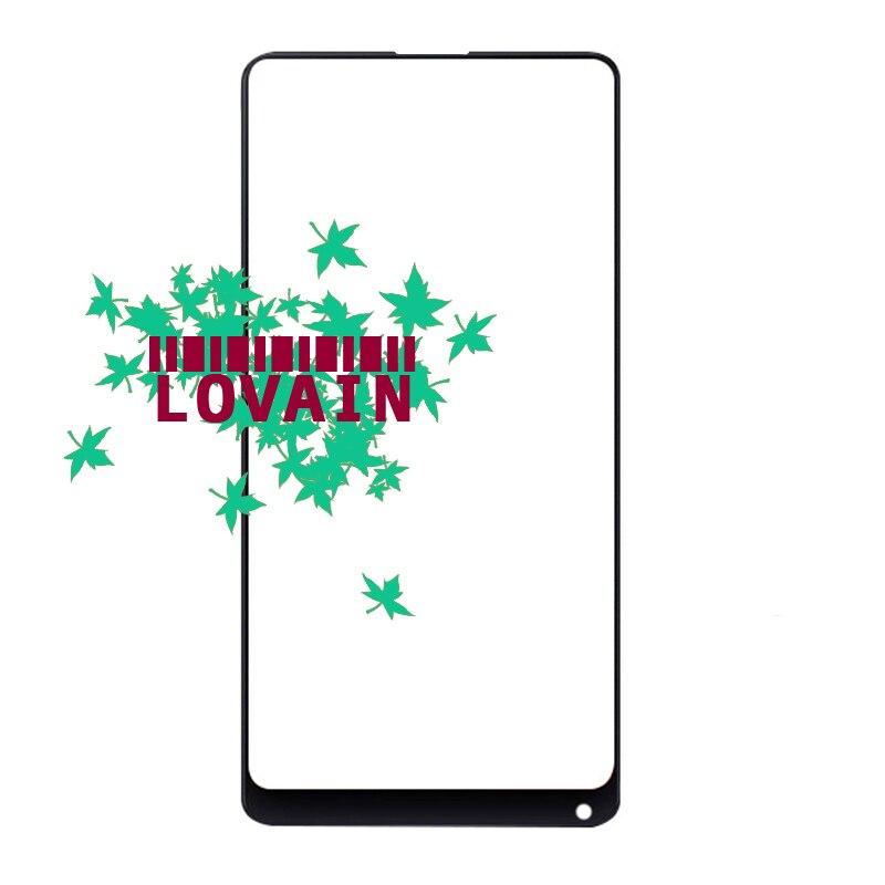 LOVAIN 50PCS Black White Genuine Original For Xiaomi Mix 2 Mi Mix Evo Front Glass Lens