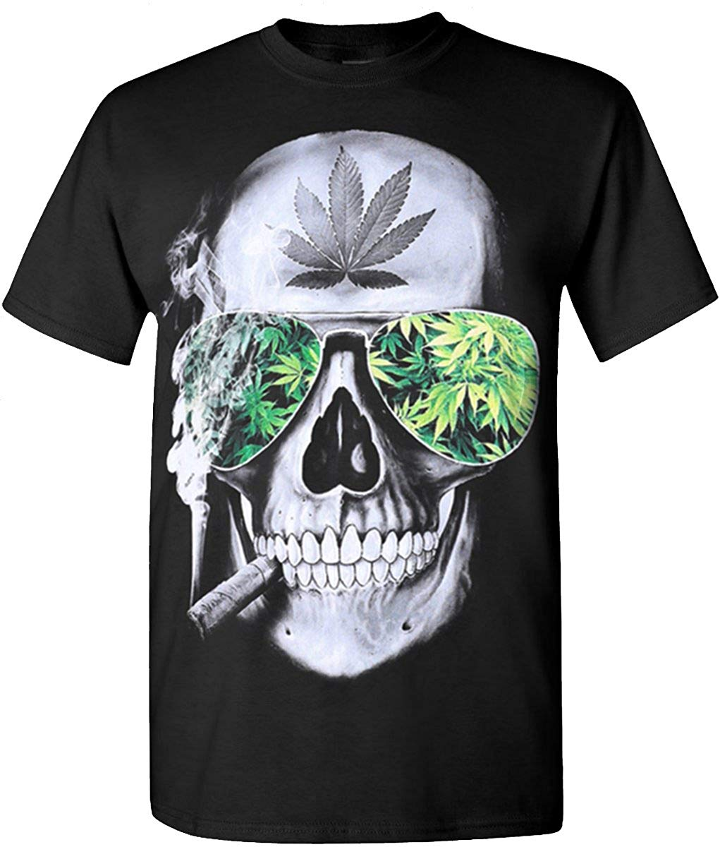 Skull Weed Blaze 420 Hip Hop Legend Rappers T Shirts Print Cotton High Quality top tee