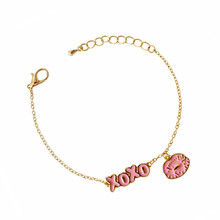 2018 simple geometric bracelet with pink ladies fashion sell like hot cakes Lovely shell  pendant
