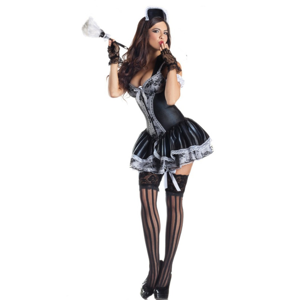 VASHEJIANG Women Sexy Exotic Apparel Maid Sexy Late Nite French Maid Costume women sexy Servant Cosplay Costumes