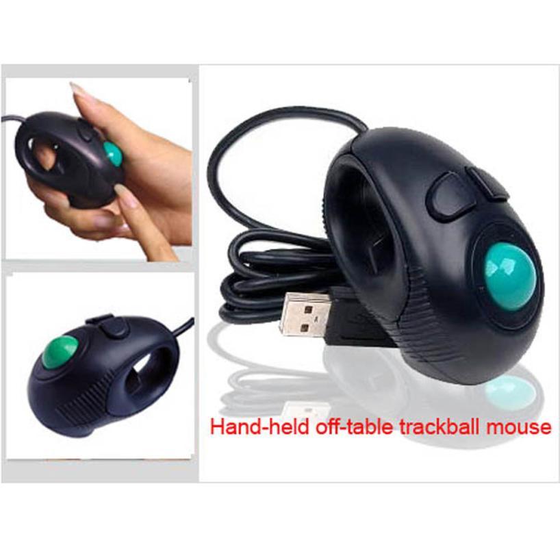 Good Sale Neu Finger HandHeld 4D USB Mini Portable Trackball Mouse PC Laptop Computer Aug 19