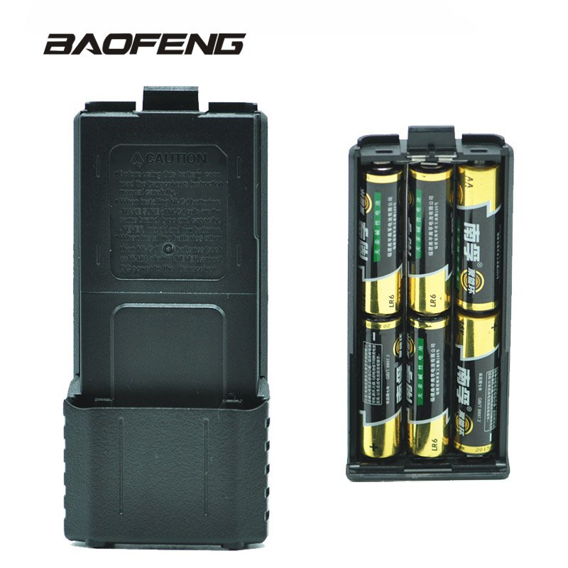 Baofeng UV-5R 6 x AA Battery Case Walkie Talkie Batteries Powe Shell Portable Radio Backup Power for
