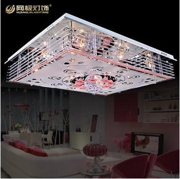 Wohnzimmer Lampen Moderne Minimalistische Mode LED Kristall Licht Deckenleuchte Romantische MP3 MusikChina Mainland