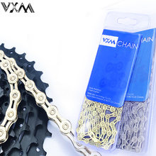 VXM 11 speed Bicycle chain silver half hollow bike mountain road full chains ultralight 116L gold Part
