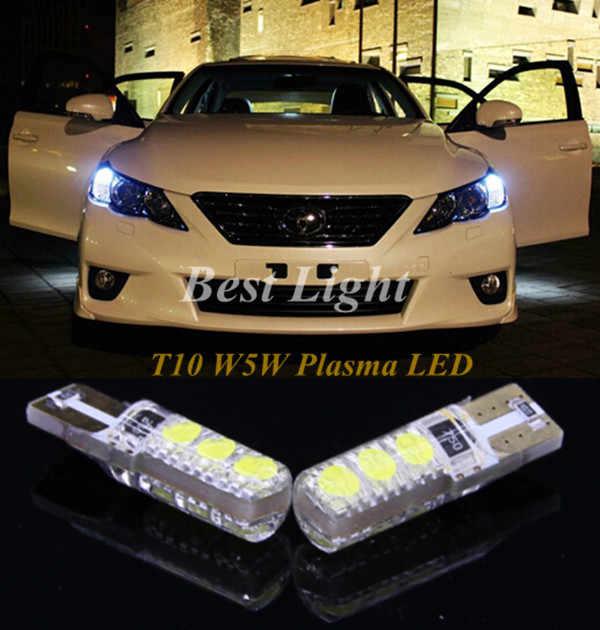 2 шт. T10 W5W плазменной светодиодный Габаритные фары сбоку парковочные габаритные огни для Toyota Corolla Camry Paseo Previa Prius RAV4 Sienna Tacoma
