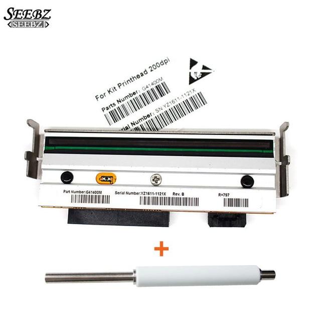 G79056 1M печатающая головка + G77023M пластинчатый ролик, совместимый с принтерами Zebra Z4M Z4M + 203 точек/дюйм для печати этикеток штрих кодов