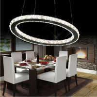 Free Shipping Single Ring Crystal Led Pendant Light Dia20 30 40 50 60cm Hotel Minimalist