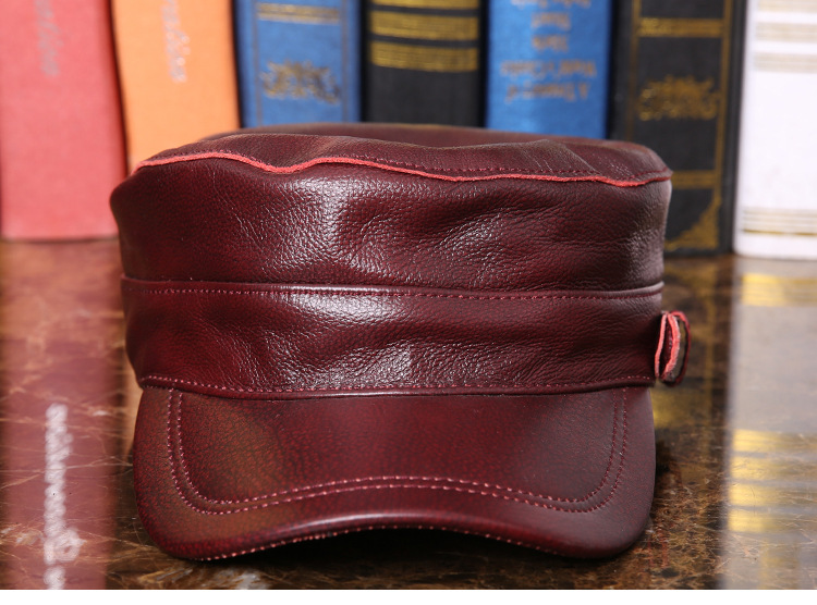 Outdoor natural leather cap (7)