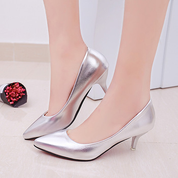 GAOKE Fashion Office Work Pumps Women Shoes Elegant Heeled women Stiletto Party Pointed Toe Patent Leather Thin Heels Shoes women pumps block heels 5cm pointed toe classic ladies chunky heels fashion female office shoes women