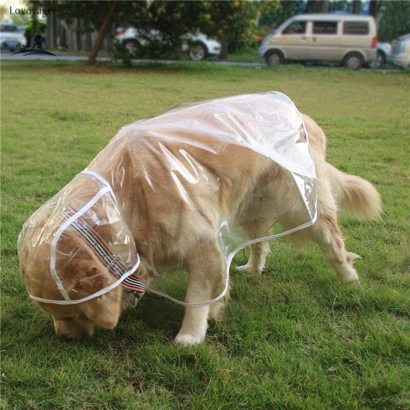 Waterproof Pet Dog Raincoat Dog Hooded Jacket Transparent Rain Coat Dog Clothing for Small Large Dog XS/5XL
