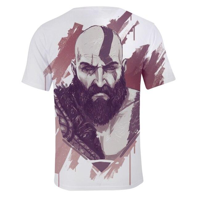 God Of War 3D Design T-Shirt Men Women O-Neck Summer Tshirt Hot Game T Shirts Tops Camisetas Clothing 2