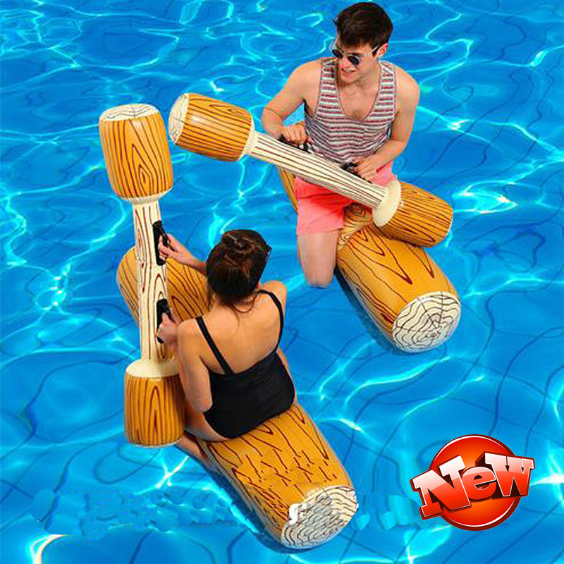 1 pair Water Fun Battle Ships Toy Floating Bed Swimming Pool Rafts Inflatable Summer Beach Toys Party for Kids