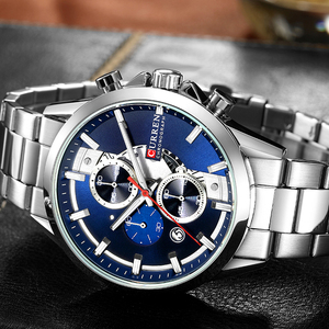 Image 3 - CURREN Fashion Design Watches for Men 2019 Luxury Brand Mens Watch Casual Sport Wristwatch Chronograph Stainless Steel Clock