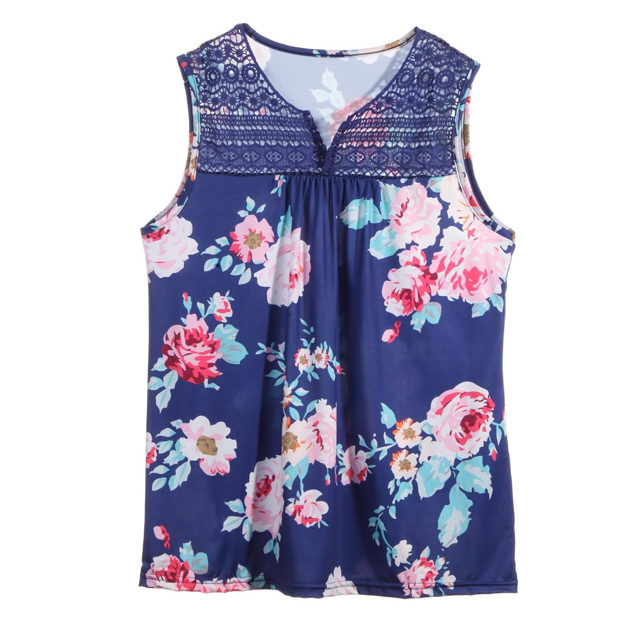 Fashion Women Casual Tank Tops Summer Loose Sleeveless Shirt Blouse Vest
