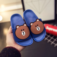 2017 summer cute bear children sandals kids boy girl soft bottom non-slip children's slippers