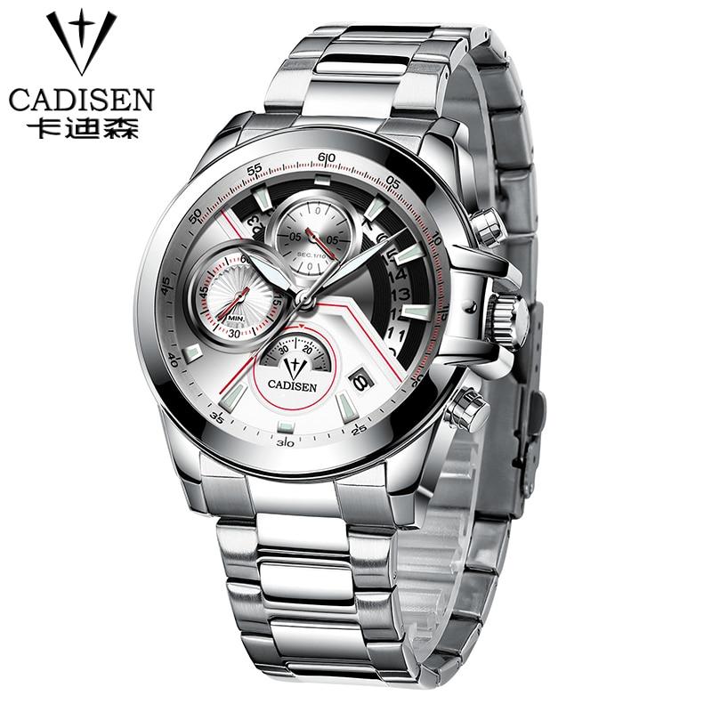 2018 New CADISEN Watches Men Top Luxury Brand Hot Design Military Sports Wrist watches Men Digital Quartz Men Full Steel Watch men quartz full steel watch hot sale luxury