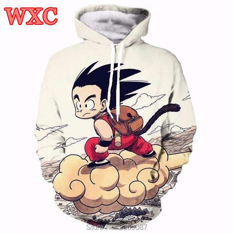 Women Hoody Hoodies Anime Goku 3D Printed Sweatshirt Japanese Cartoon Dragon Ball Z Pullovers Harajuku Unisex Casual Outwear WXC