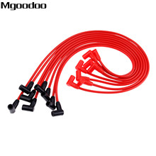 Mgoodoo 8Pcs Ignition Cable Spark Plug Wires 8mm For ACC-5048R Fittment Chevrolet G M C models Over Valve Covers