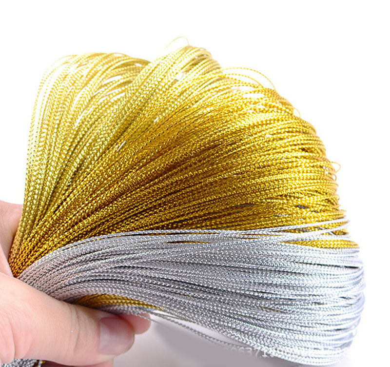 1000 yards Metallic Silver Gold Purl Wire Coil Bullion Cord Craft Jewelry 1.0mm DIY wire