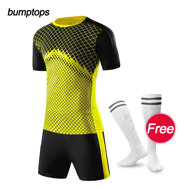 FREE SOCKS Men Football Jersey Tracksuit Uniform DIY Custom Adult Sporting Jersey Survetement Soccer Jerseys Maillot de Foot