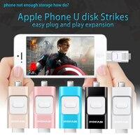New POFAN 16GB Mini Usb Metal Pen Drive Otg Usb Flash Drive For IPhone 5 5s