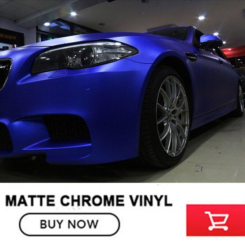 Classique bleu Profond Mat Chrome Vinyle mat Voiture De vinyle Wraps Autocollant Changement de Couleur film Autocollant De Voiture Avec la Bulle libre 12 couleur - 3