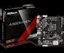 Полный новый ASROCK AMD A320 чипсет AM4 интерфейс A320M-HDV Настольный ПК материнская плата Micro-ATX