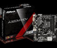 Full new ASROCK AMD A320 Chipset AM4 Interface A320M HDV Desktop PC Motherboard Micro ATX