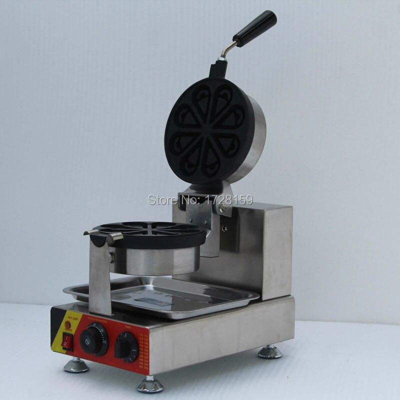 цена на water droplets shape  rotary  waffle maker,Petals waffle machine, small heart shape waffle maker