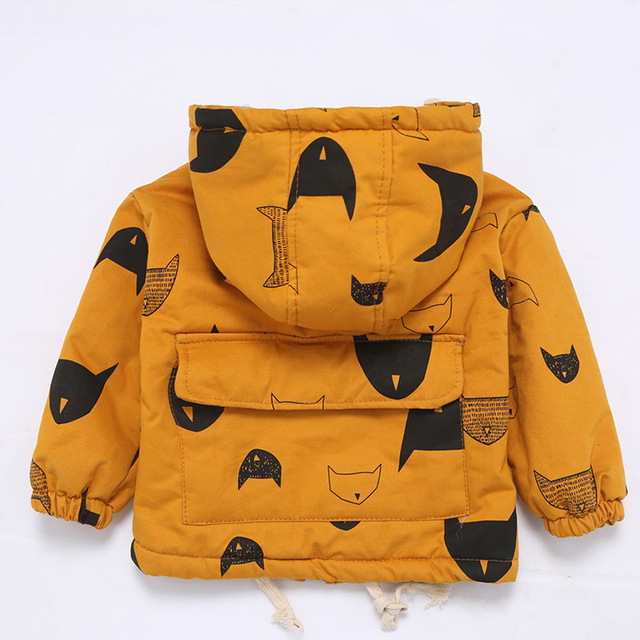 Fashion Solid Hooded Jacket for Baby Boys 4